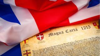 Велкиая хэартия вольностей и британский флаг