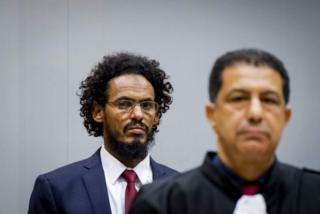 Mahdi akiwa mahakamani ICC