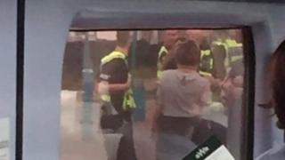 Police on train in port Talbot