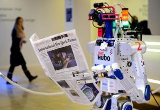 Робот на Всемирном экономическом форуме в Давосе в 2016 году