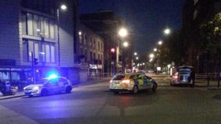 Road closed by police in Wood Green