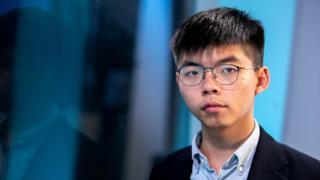 Joshua Wong đã đến Mỹ