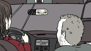 Conductora de Uber asustada