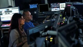 Control room of Skai TV