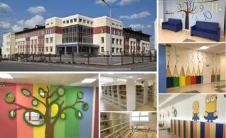 Школа в селе Песочин, Харьковская область. Фото с презентации Минобразования