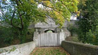 Tickhill Castle entrance gate