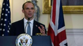 Dominic Raab in Washington in September 2020