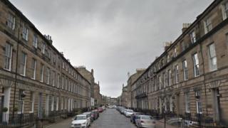 Northumberland Street in Edinburgh