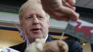 Boris Johnson in Barry Island