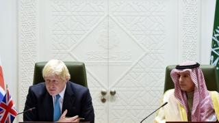 عادل جبیر، وزیر خارجه عربستان و بوریس جانسون، وزیر خارجه بریتانیا