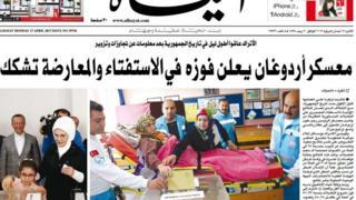 Al Hayat gazetesinin ön sayfası