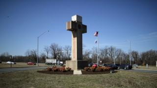 A 40-foot cross that honors 49 fallen World War I soldiers from Prince George's County stands at the busy intersection of Bladensberg and Annapolis roads and Baltimore Avenue