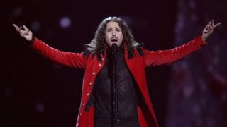 Poland's Michal Szpak performs the song Colour Of Your Life