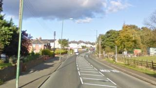A692 at Moorside, Consett