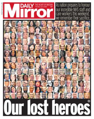 Daily Mirror front page 02.07.20
