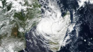 Cyclone Idai approaches Mozambique