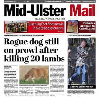 Mid-Ulster Mail front page, 18 May