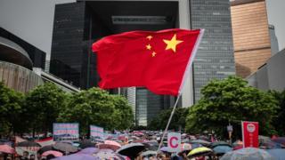 7月20日,建制派发起第二次集会,反对暴力及支持警察执法。