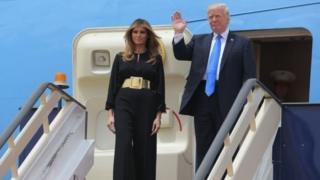 Trump n'umugore we bageze i Riyadh kuwa gatandatu mu gitondo