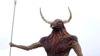 Wicker minotaur