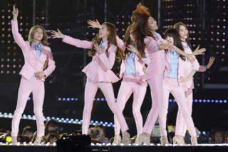 South Korean pop group Girls Generation perform on stage during the 20th Dream Concert on 7 June 2014 in Seoul, South Korea.