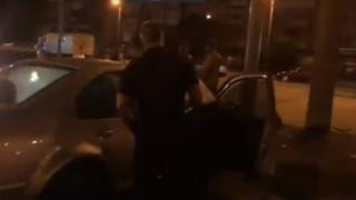 Стопкадр з відео. Авто отримало значні пошкодження