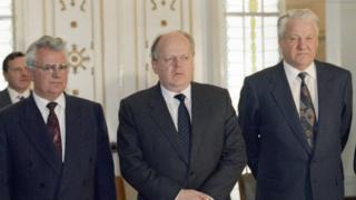 Ельцин, Шушкевич и Кравчук