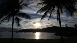 Airlie Bay at Airlie Beach in Queensland