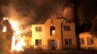Fire at property in Codicote