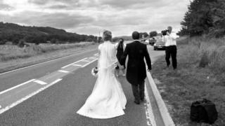 A couple getting married just off the A470