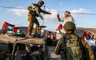 معترض فلسطینی