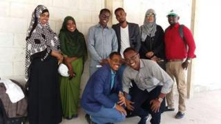 The group of activists who walked across Somalia