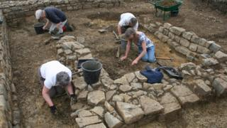 Archaeological dig at Beckery Chapel