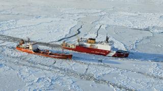 Russian icebreaker travels towards Nome to deliver fuel, 2012