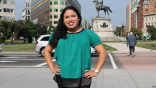 An undated handout photo shows newly appointed White House staff member Raffi Freedman-Gurspan posing for a photo at Thomas Circle in Washington DC, USA