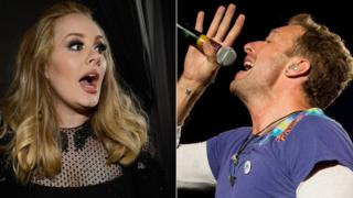 Adele and Coldplay
