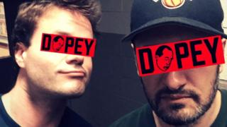 Dopey podcast hosts Chris and Dave