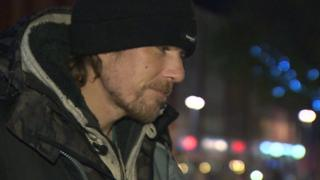 Ben, a homeless man who lives in Swansea