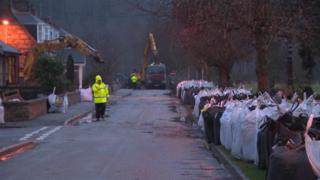 Sandbags being put out in Ballater