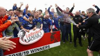 Cove Rangers celebrate promotion to League Two