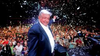 Andrés Manuel López Obrador, presidente eleito do México.