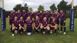 The Thurston Rugby Club second team. Josh Gilbert is pictured on the back row, fourth from left.