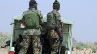 Nigerian Army on to vehicle
