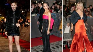 Claudia Kim who plays Nagini, Zoë Kravitz who plays Leta Lestrange and Alison Sudol who plays Tina's younger sister, Queenie Goldstein, were out on the red carpet with their co-stars.