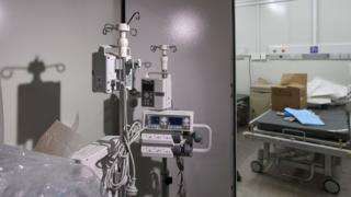 A view of inside the hospital