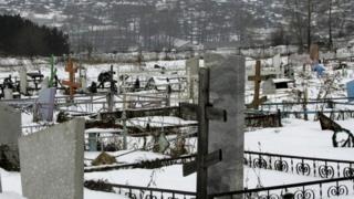 A Russian graveyard