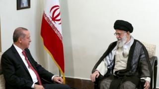 رهبر ایران در دیدار با اردوغان: آمریکا و قدرتهای خارجی به دنبال ایجاد یک اسرائیل جدید در منطقه هستند