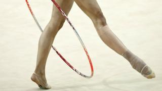 Нога гимнастки