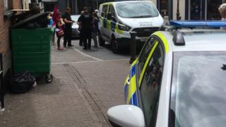 Dyfed Powys Police at an Extinction Rebellion protest