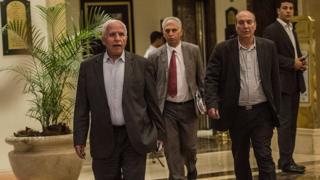 Une délégation du Hamas en négociation en Egypte en 2014 (illustration)